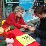 Reclaiming the streets - Knitting for Peace on Hampstead High Street!