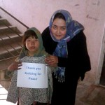 A young girl sends her thanks to Knit for Peace