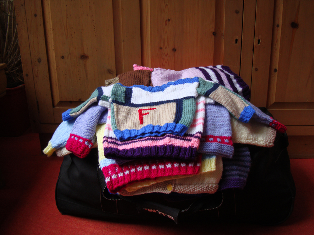 Jumpers for orphans in South Africa