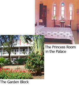 the princess room & the garden block
