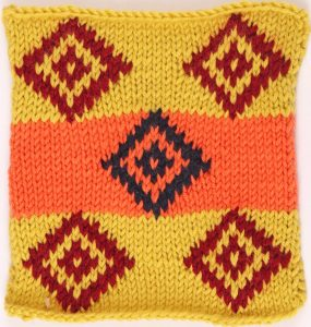 Blanket Square by Sarah Neal of Let's Knit Magazine for Knit Pro Designer Along
