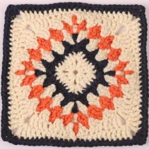 Kelim Crocheted Square by Hugh Metcalf from Crochet Now