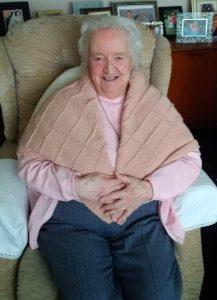 Barbara in her shawl