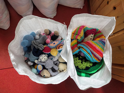 Donate goods - Knit For Peace
