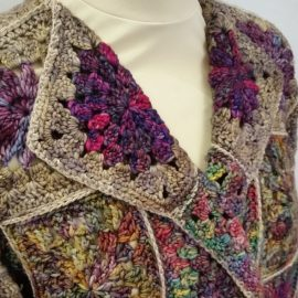 Kit for the Secret Garden jacket. Will be launched at the Knitfest.