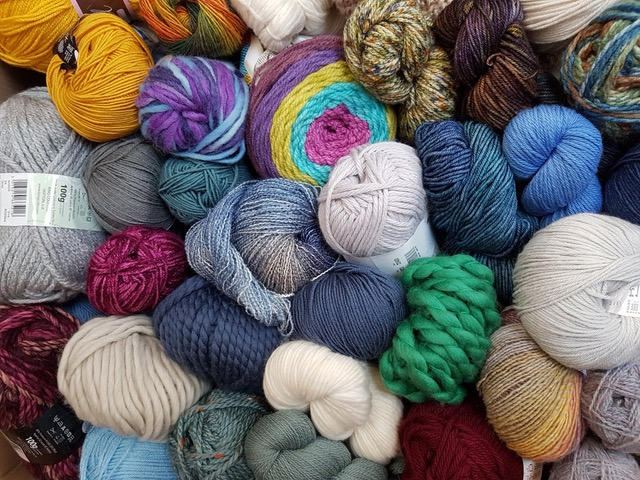 A picture of an assortment of quality yarns in a wide range of colours