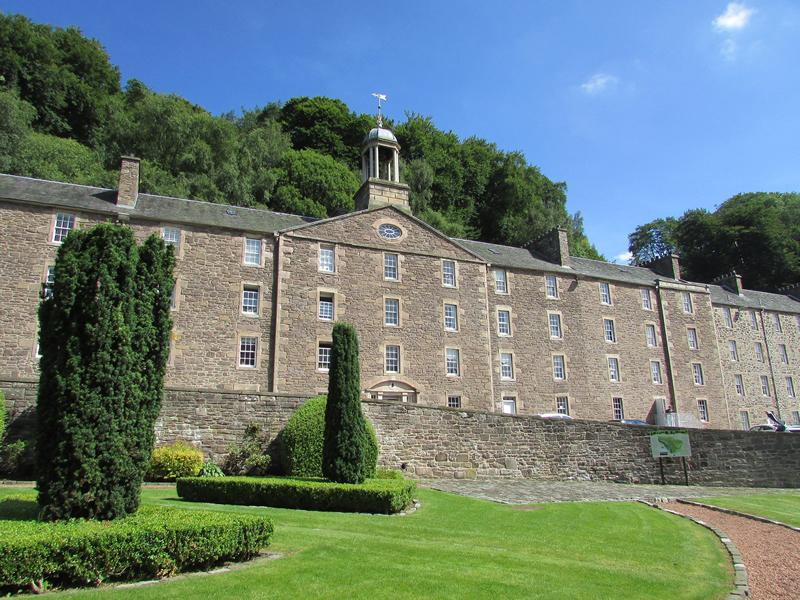 A picture of the front of the New Lanark Mill Hotel, where we will be staying on this knitting holiday.