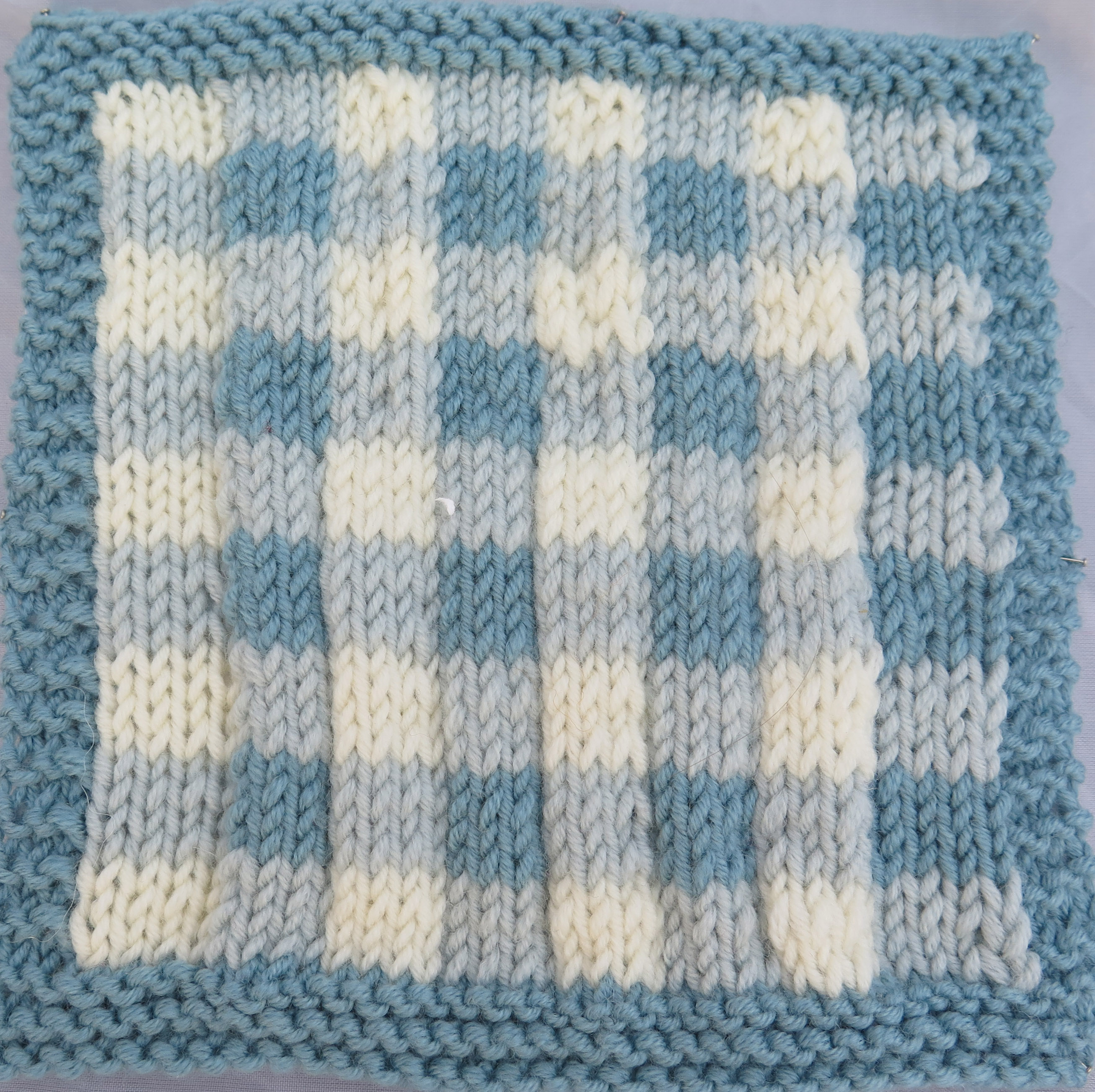 Gingham Square by Debbie Bliss - Knit For Peace
